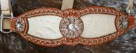 Bling Inlay noseband w/ bone croc. and Bronze daisey's
