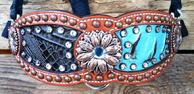 Bling inlay bronc halter.