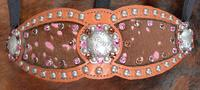 Inlay bling halter w/ pink acid wash hair on inlays